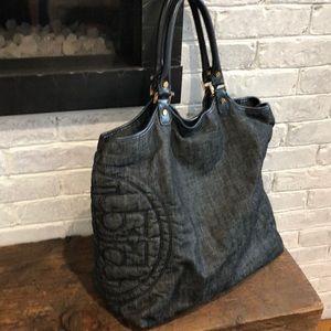 Denim Tori Burch Handbag; in perfect condition
